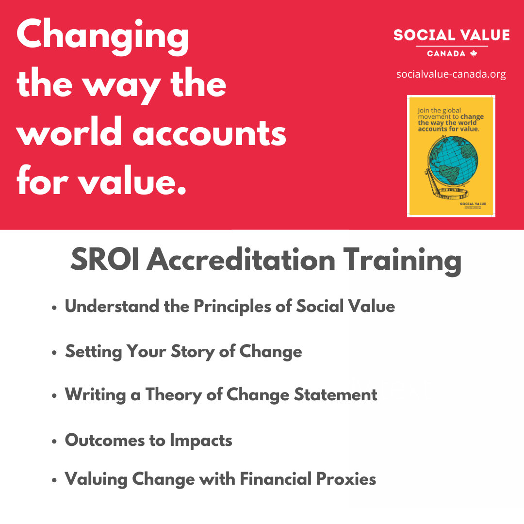 Individual SVC Membership + Social Value SROI Accreditation Training