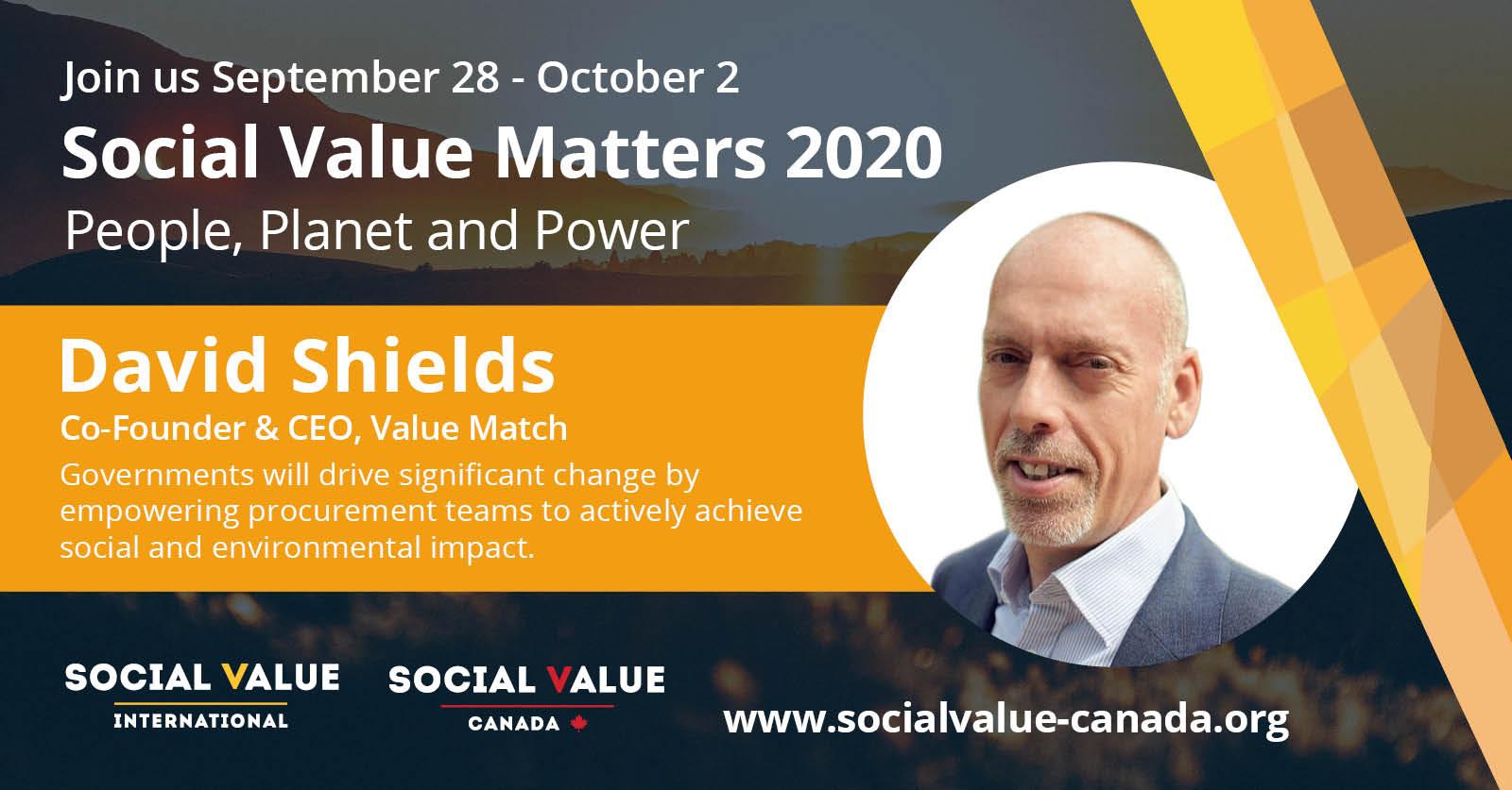 SVM2020 – Speaker Profile – David Shields