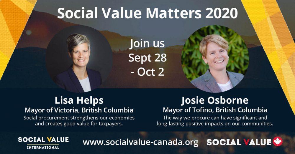 SVM2020 – Speaker Profile – Mayor Lisa Helps & Mayor Josie Osborne